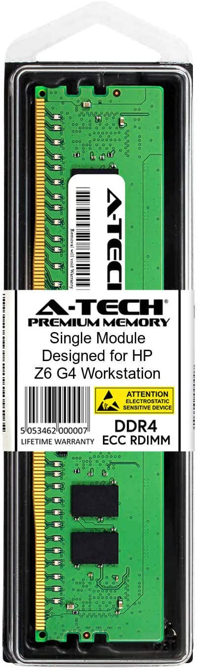 Server Specific Memory Ram DDR4 PC4-21300 2666Mhz ECC Registered RDIMM 1Rx8 A-Tech 8GB Module for HP Z4 G4 Workstation AT378359SRV-X1R5