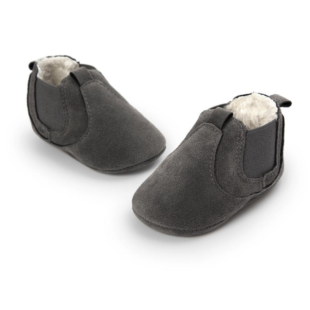 Celendi Toddler Baby Plush Soft Sole Non-slip Warm Velvet Snow Bottom Cotton Boot