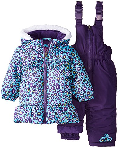 Pink Platinum Baby Girls' All Over Cheetah Snowsuit, Blue...