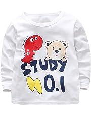 T Shirt Bambino Topgrowth Maglietta Neonato Manica Lunga Bambina Dinosauro  Stampa di Lettere Camicia Felpe Pullover 0901fb81018e