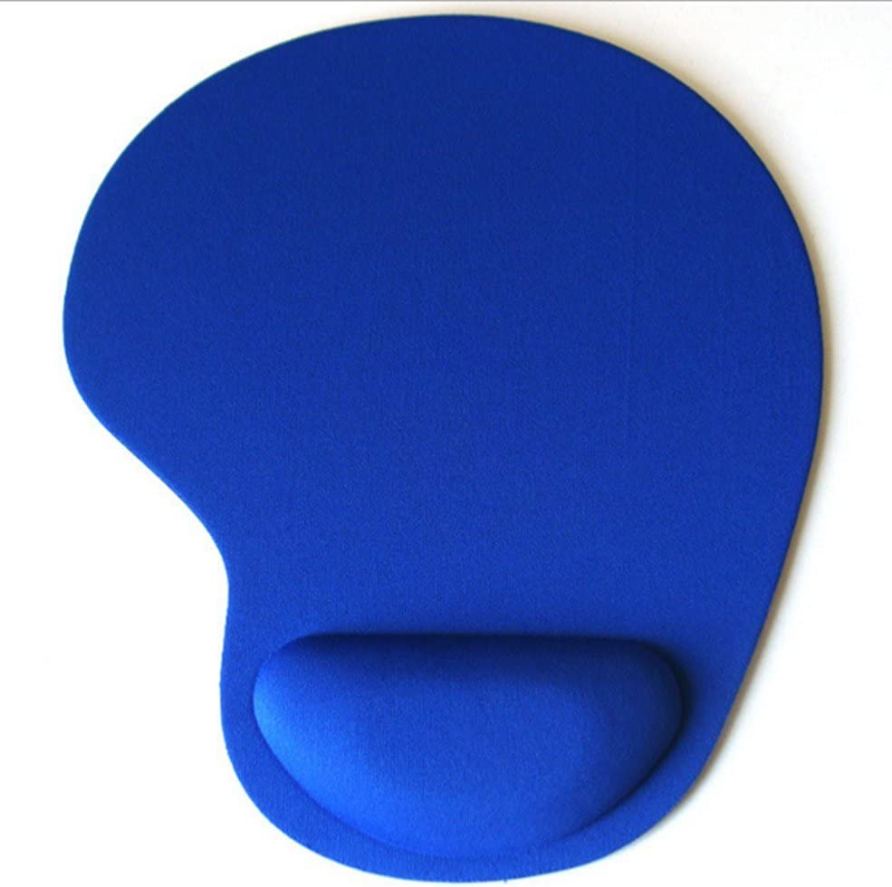 Ultra Slim Cloth Wrist Rest Mouse Pad Blue 1PACK FlashHawk TM