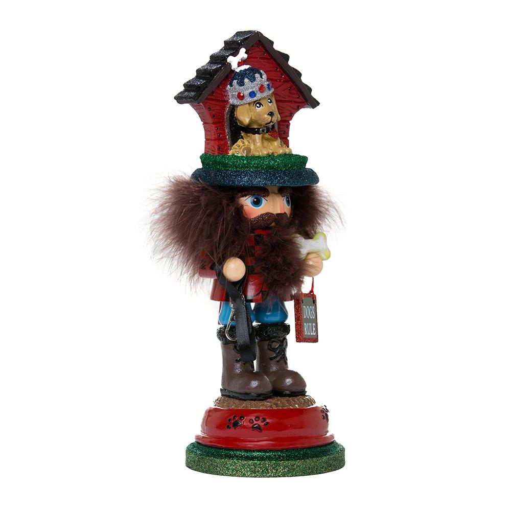 Kurt Adler HA0337 13'' Hollywood Doghouse Hat Nutcracker