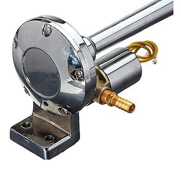 GeKLok - Kit de compresor de bocina de Aire, 12 V, 135 dB, Cromado, para Coches, Camiones, 45 cm, Cromado: Amazon.es: Deportes y aire libre