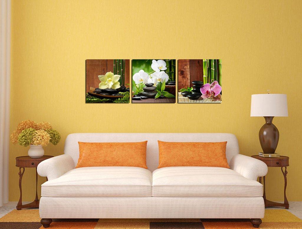 Amazon.com: Spirit Up Art 3 Panels Modern Giclee Prints Artwork Zen ...