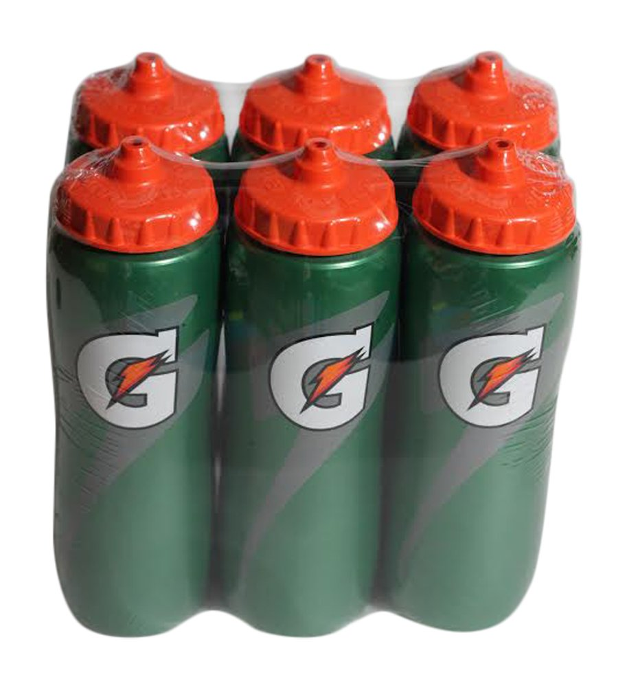 Gatorade 32 Oz Squeeze Water Sports Bottle - Value Pack of 6 - New Easy Grip Design for 2014 by Gatorade (Image #2)