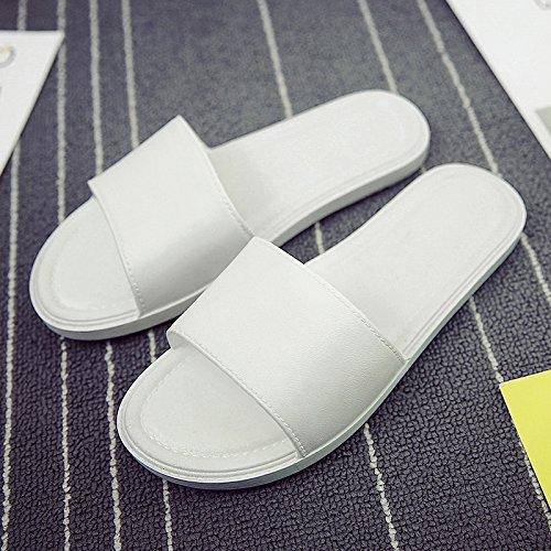 DogHaccd pantofole,Home pantofole donne indoor estate anti-slittamento bagno bagno Home Home pantofole, esterna spessa trend di usura.,Bianco40-41