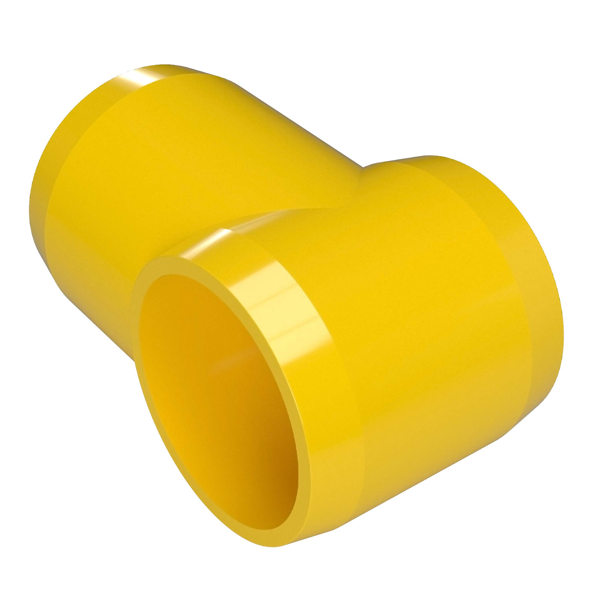 FORMUFIT F114STE-YE-4 Slip Tee PVC Fitting, Furniture Grade, 1-1/4'' Size, Yellow (Pack of 4)