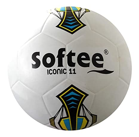 Balon Futbol Softee Iconic - Futbol 11 - Color Blanco: Amazon.es ...