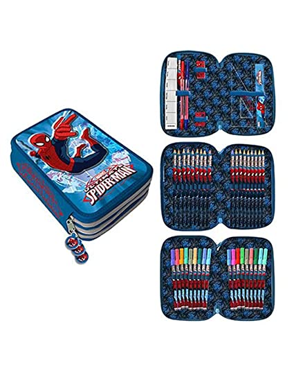 Spider-Man Spiderman de Marvel Estuche plumier con Tres Pisos AST1555