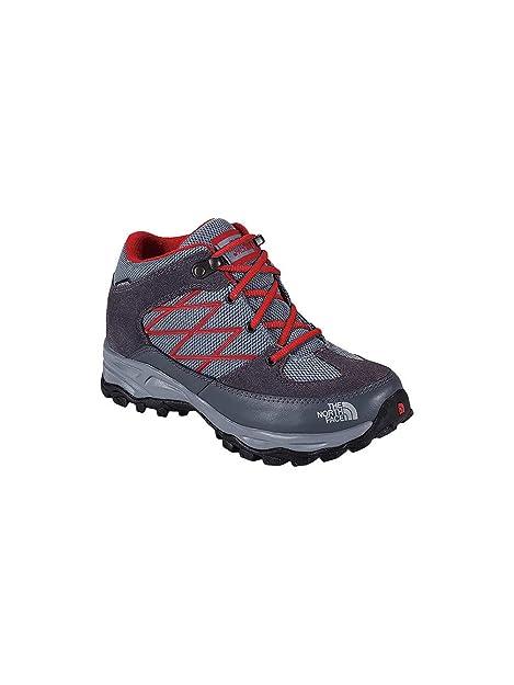 The North Face - Zapatillas para niño, Color Gris, Talla 34.0