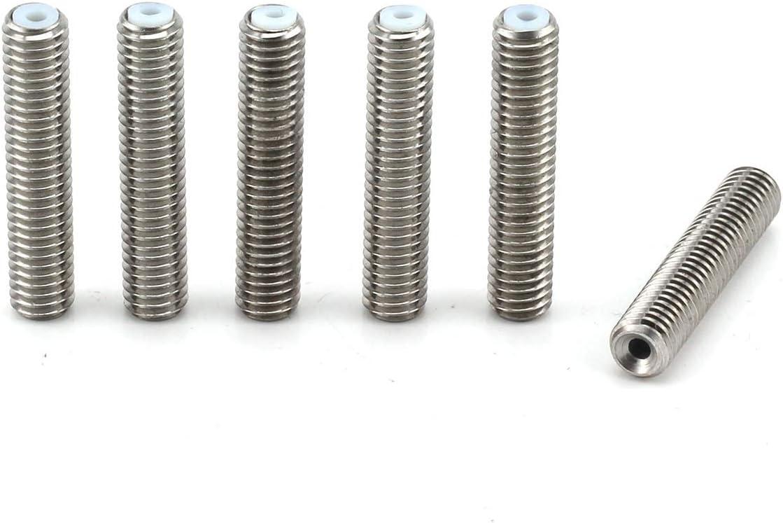 0.4mm Extruder Brass Nozzle Print Heads for MK8 Makerbot Anet A8 Reprap 3-D Printers 3D Printer Parts 30mm Barrel Staninless Steel Nozzle Teflon throat tube