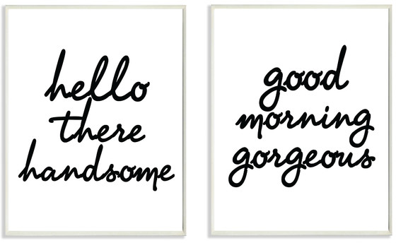 Stupell Industries lulusimonSTUDIO​ 2 Piece Hello There Good Morning Wall Plaque Set & Reviews | Wayfair