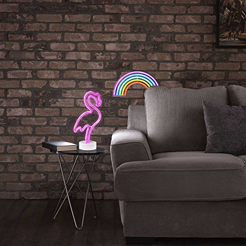 AIZESI Neon Light Signs,Neon Lamps,Marquee Battery Or USB Operated Table Led Ligths Wall Decoration for Girls Bedroom,Living Room, Christmas,Party as Kids Gift (Rainbow Color) by AIZESI (Image #7)