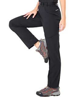 ca9a731da055f4 MIER Women's Quick Dry Hiking Pants Outdoor Stretchy Tactical Cargo Pants  with 6 Pockets, Side