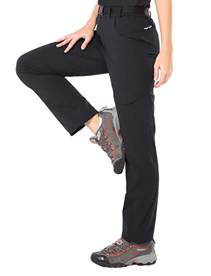 f4c4b48f7f1ed MIER Women's Quick Dry Hiking Pants Outdoor Stretchy Tactical Cargo Pants  with 6 Pockets, Side