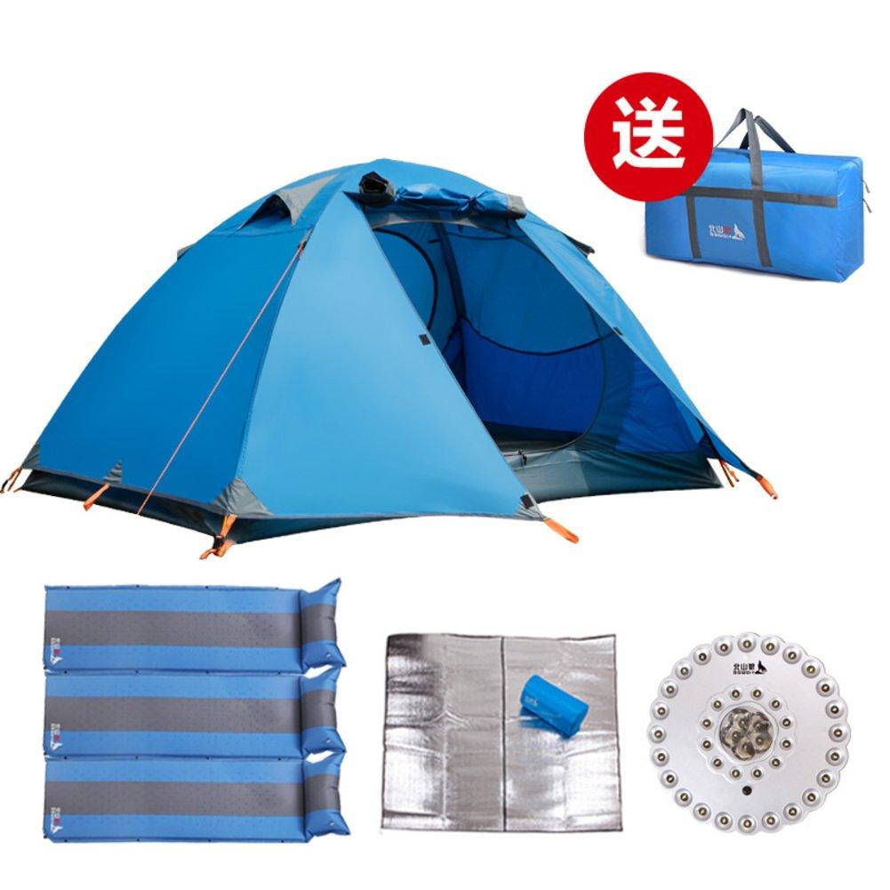 3-4 Personen-Zelte  outdoor Paket  Doppelte Personen Sonne Wind Regen Personen Doppelte camping Zelt 0066d3