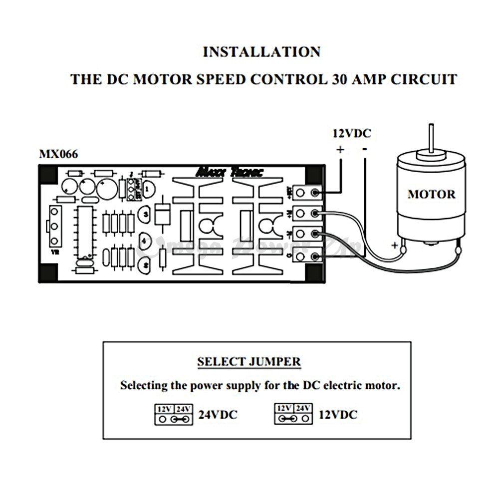 Dc Motor Speed Control Hho Pwm 12v 24v 30a Electronic Circuit Controller Wiring Diagram Mxa066