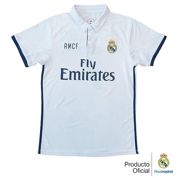 REAL MADRID- Camiseta 1ª Equipación Adulto 2016-2017, Réplica Oficial Cristiano Ronaldo- Talla XL: Amazon.es: Deportes y aire libre