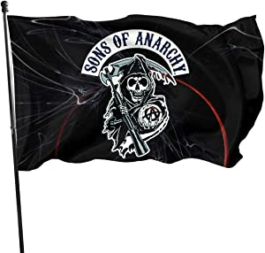 Fangpeilian Sons of Anarchy Flag Garden Flags Party Banner 3x5 Feet
