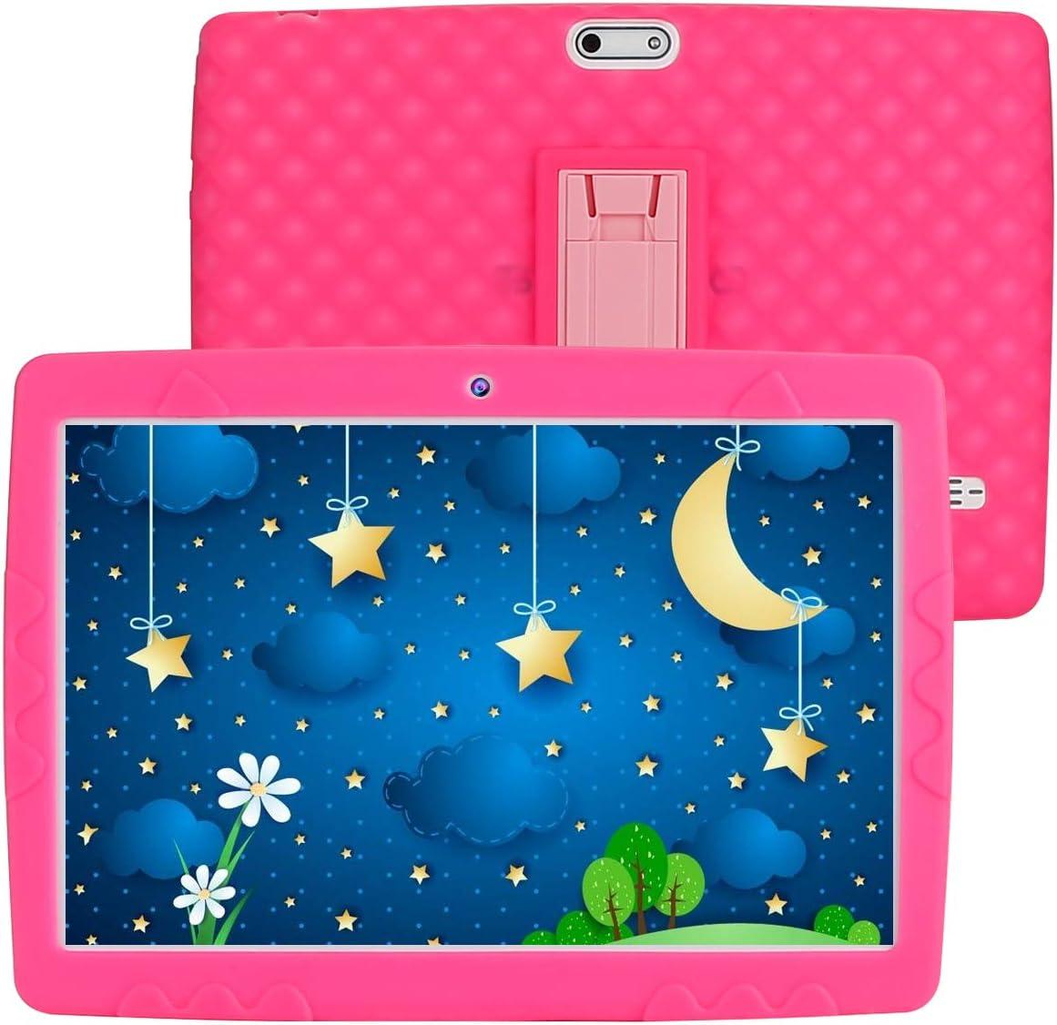 SANNUO Tablet per Bambini 10 Pollici,3 GB+ 32 GB,Android 10.0,Controllo Parentale,Quad-Core,Doble Cámara,3G & WiFi,App per Bambini Preinstallate