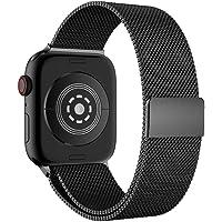 Cooljun Bracelet pour Apple Watch Series 4 40mm/44mm,Bandoulière de Montre en Acier Inoxydable avec Fermoir magnétique Milanese