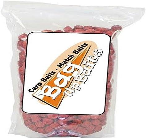 14mm 500g Bubblegum Flavoured Pre-Drilled Shrimp /& Krill Pellets 8mm