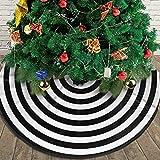 AHOOCUSTOM Small Black and White Christmas Tree