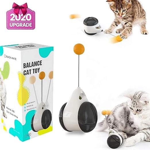Normals Juguetes Interactivos para Gatos de Interior, Juguetes para Gatos, Juguetes Interactivos Gatos, Leobks Juguete Balanceado para Gato Catnip con Bola Ruedas Automático: Amazon.es: Productos para mascotas