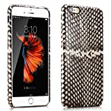 iPhone 6/6s Case, RUIHUI®Luxury Premium [Snake Skin] [Genuine Leather] Hard-Shell Back Cover Protective Leather Case with [Ultra Slim] for Apple iphone 6/6s White