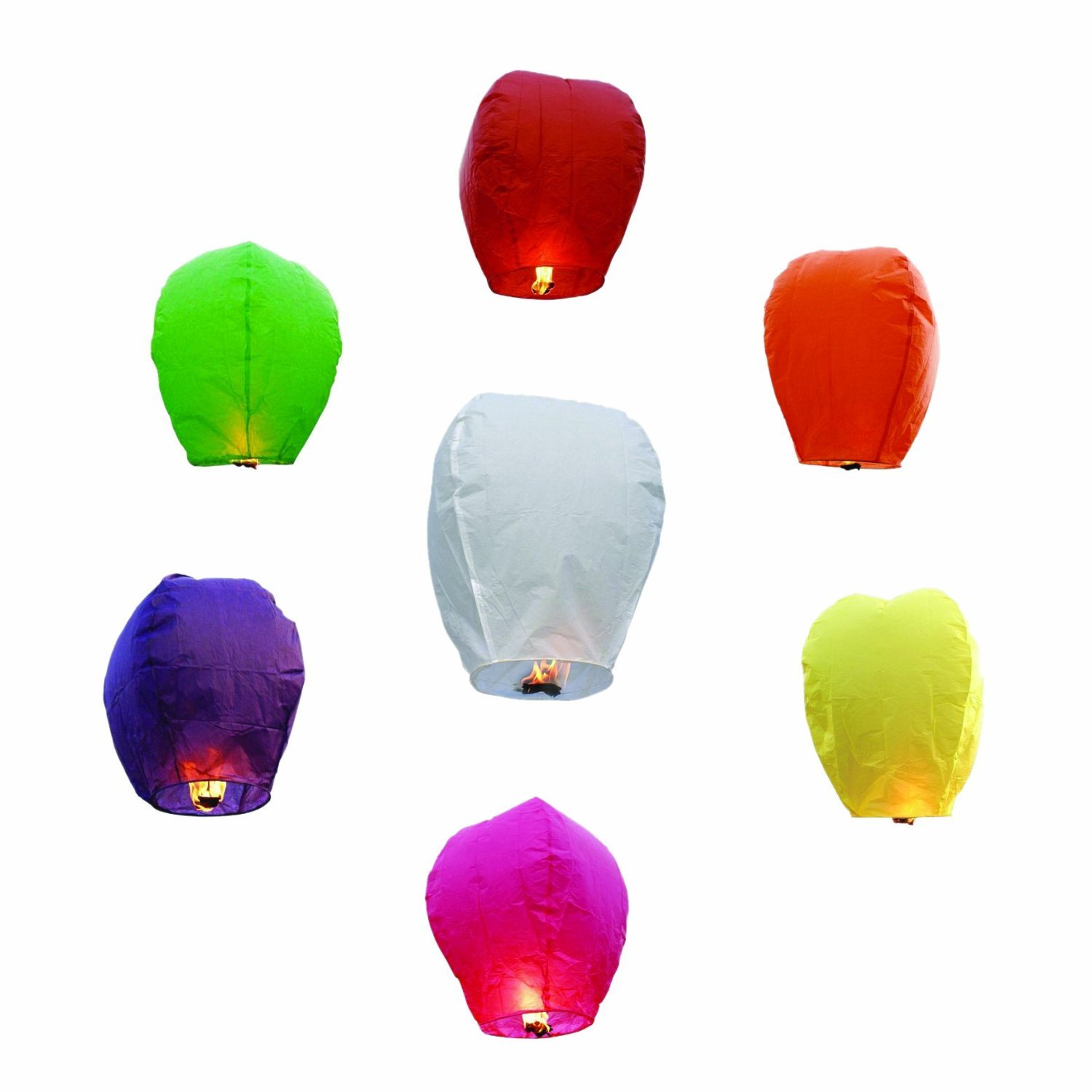Alrens_DIY(TM) 20 Pcs Chinese Sky Fly Fire Lanterns Wishing Lamp For Wedding Birthday Christmas Party Anniversary Celebration , Multi Color