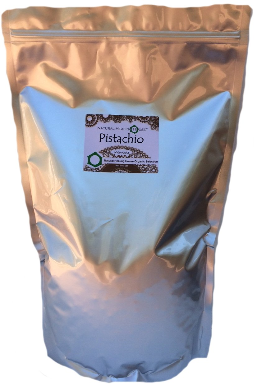 Organic Raw Pistachio Kernels 5 Lbs by Natural Healing House