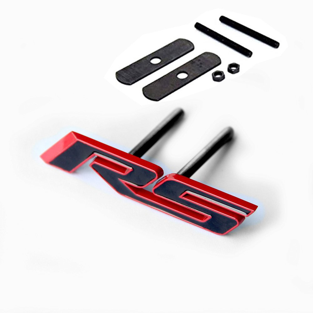 Yoaoo 1x OEM Grille RS Emblem Badge 3d for Camaro Series Grill Red Frame Red Line 23172682