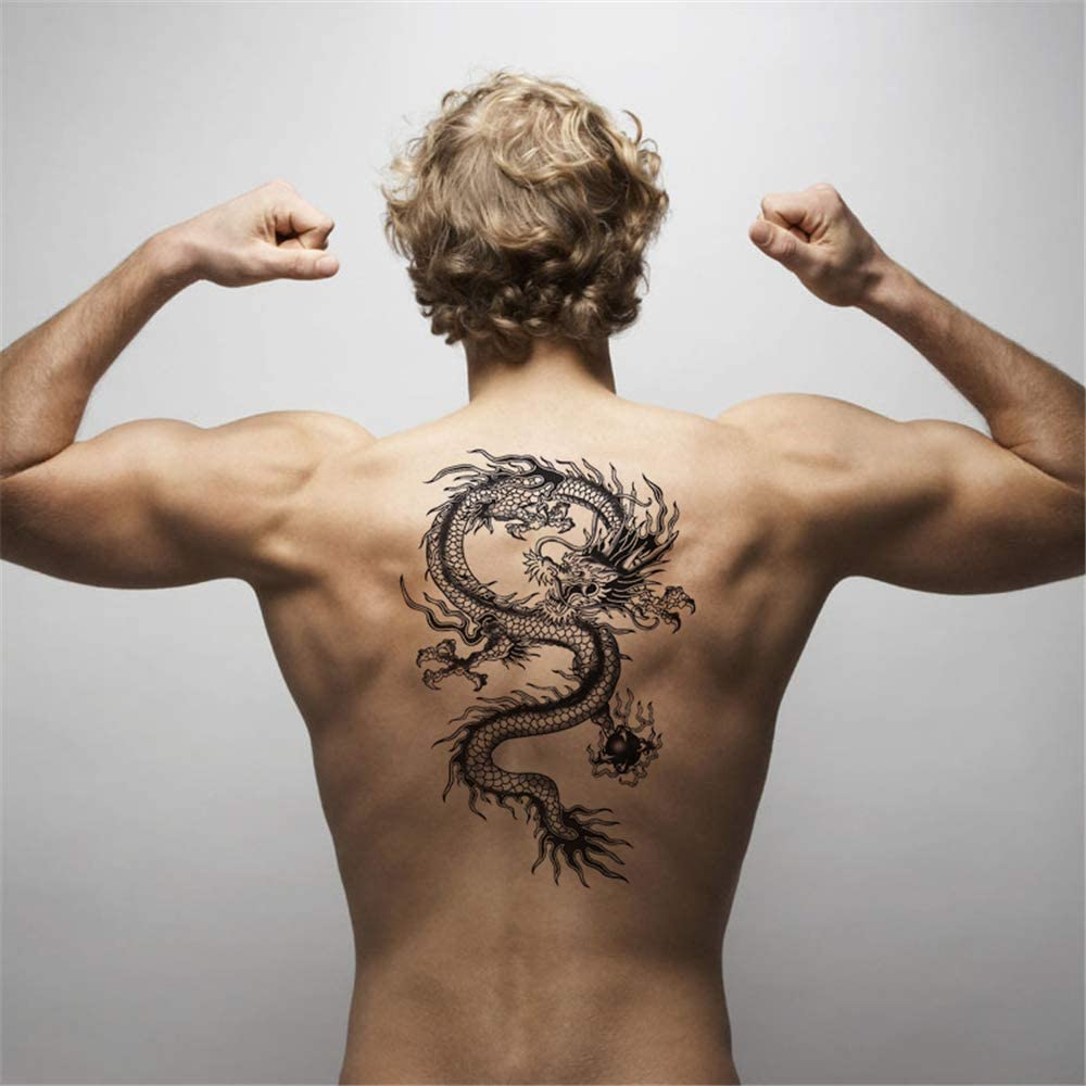 Tatuaje aplique brazo tatuaje pegatina en la espalda hombres y ...