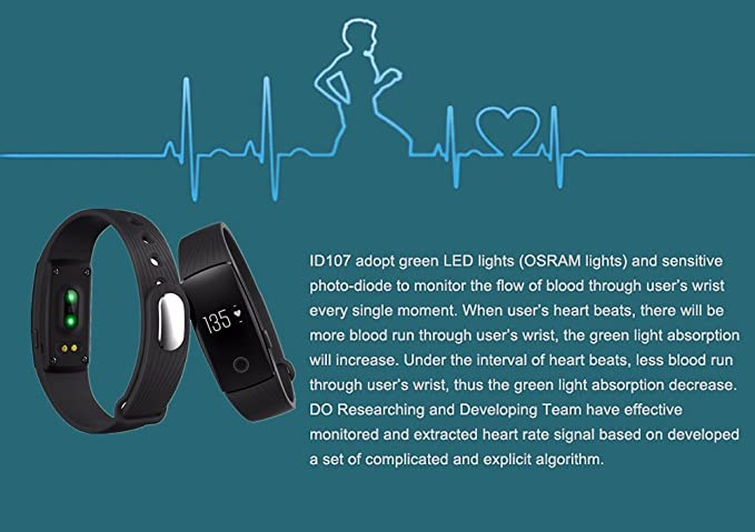Amazon.com: Efanr ID107 Smart Bracelet Band Watch Bluetooth ...