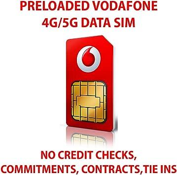 Tarjeta SIM de datos Vodafone precargada con datos 4G y 5G superrápidos ilimitados. Válido durante 30 días desde el primer uso: Amazon.es: Electrónica