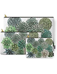 Society6 An Assortment Of Succulents Carry-All Pouch