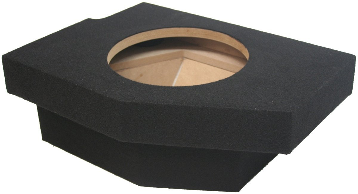"ASC Dodge Ram Quad or Crew Cab Truck 2002-2012 Single 10"" Subwoofer Custom Fit Sub Box Speaker Enclosure"