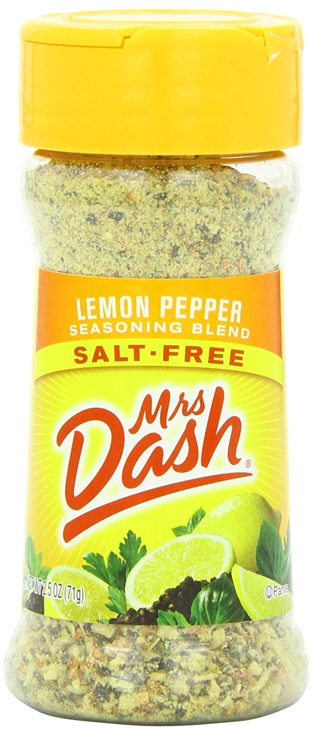 Mrs. Dash Seasoning Blend, Lemon Pepper, 2.5 Ounce (Pack of 12)