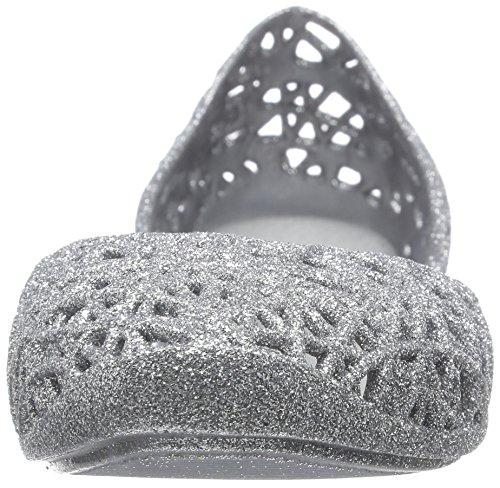MINI MELISSA - Ballerine argent en plastique MELFLEX, un caoutchouc parfumé, biodégradable et écologique, Fille, Filles