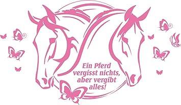GRAZDesign Wandtattoo Pferd und Schmetterlinge - Wandbilder ...