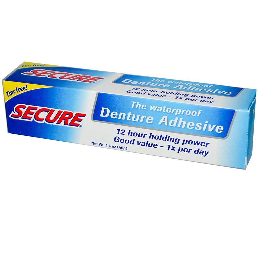 Secure Denture Waterproof Adhesive 1.40 oz (Pack of 6) by SECURE Denture Adhesive