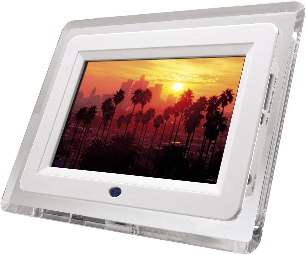 Hama Digitaler Bilderrahmen 7 Zoll Transparent Weiß Kamera