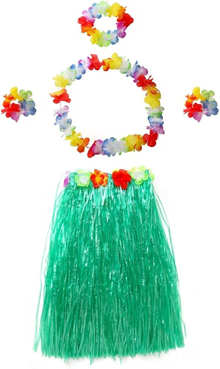 CISMARK Elastic Hawaiian Hula Dancer Grass Skirt