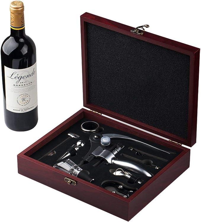 3 Piece Wine Essentials Tool Set Bottle Opener Gift Box Corkscrew Accessories