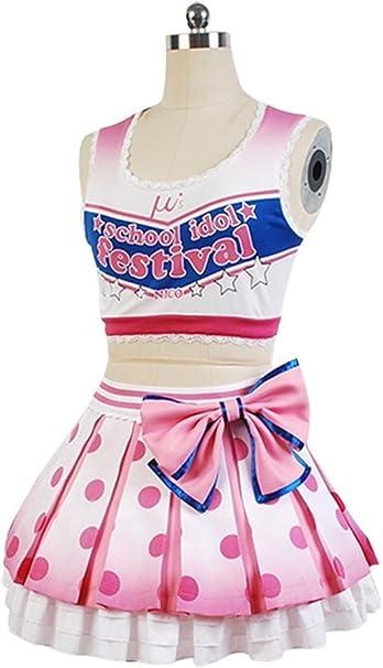 Amazon.com: UU-Style Love Live Cheerleader Yazawa Nico Uniform Dress Outfit Cosplay Costume: Clothing