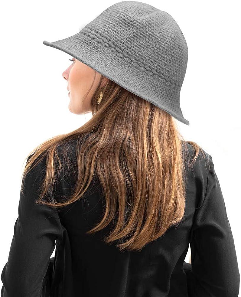 Elegante Cappello a Cloche Cappello Bombetta Donna Caldo retr/ò Cappello Donna Cloche Cappello Kqpoinw Bombetta Donna
