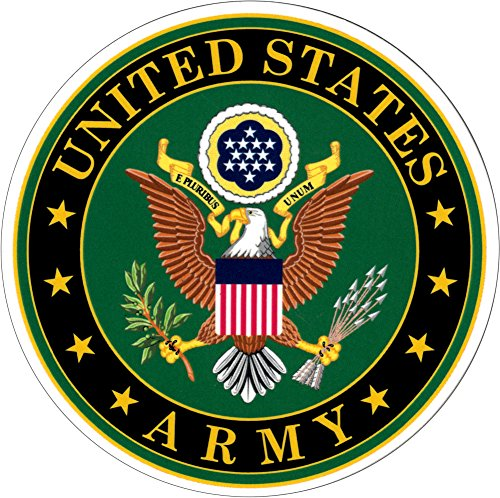 U.S. Army Seal - Eagle on Green - Emblem Sticker / Decal (Sticker Window Army)