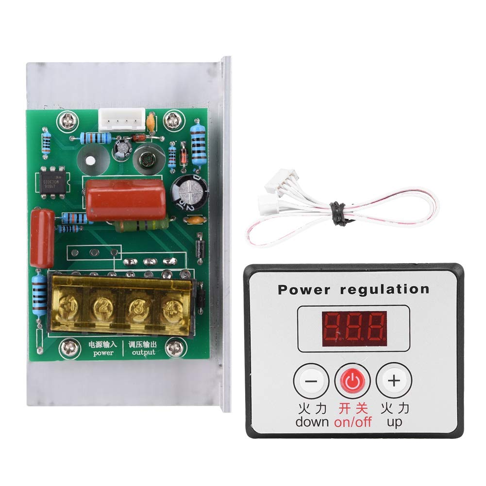 AC 220V 6000W Adjustable SCR Digital Voltage Regulator Electric Motor Speed Control Dimming Dimmer Thermostat Module
