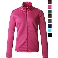 Regna X Women's Full Zip Front Benton Fleece Jacket (16 Colors/2 Fabrics/S-3 X 6 Size Choices)