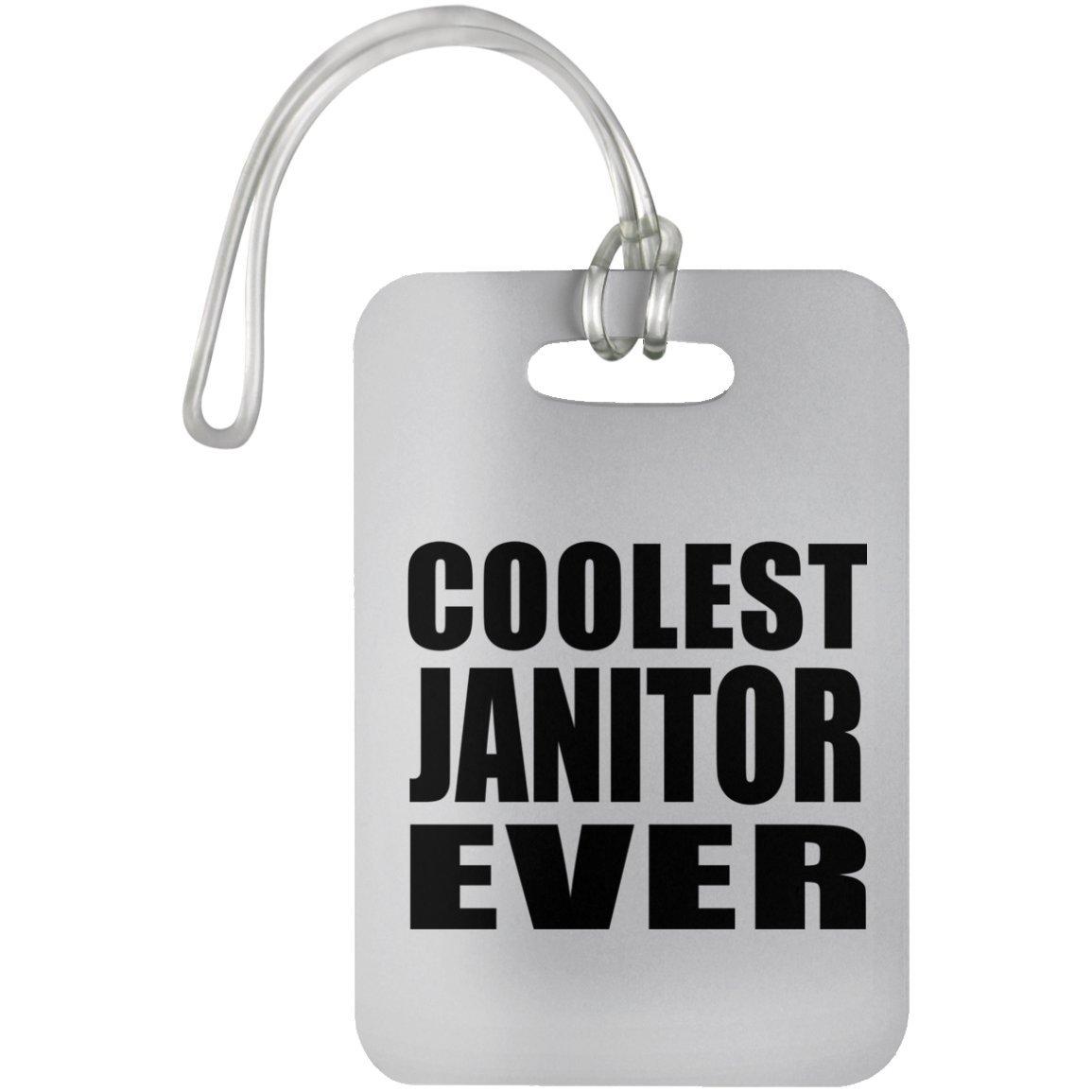 Coolest Janitor Ever - Luggage Tag Étiquette de Valise Croisière Valise Baguage - Cadeau pour Anniversaire Fête des Mères Fête des Pères Pâques